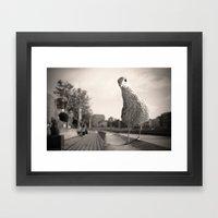 Inquisitive Seagull Framed Art Print