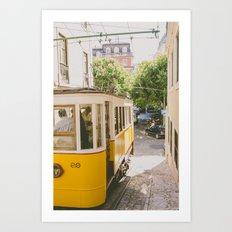 Yellow Cable Car Art Print