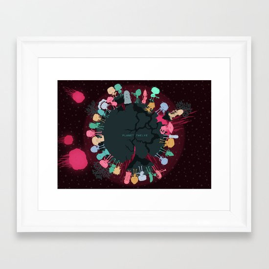 Planet Twelve Framed Art Print