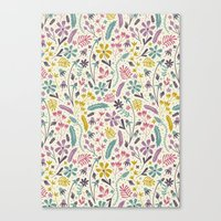 Retro Blooms (Candy) Canvas Print