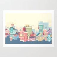 Little Apartments In A B… Art Print
