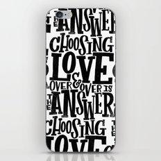CHOOSE LOVE iPhone & iPod Skin