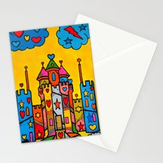 PopART Castle Dream (selfpaint) by Nico Bielow Stationery Cards