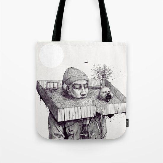 kid please draw me a house Tote Bag