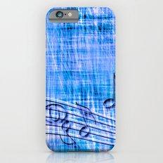 more music, blue iPhone 6s Slim Case