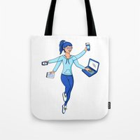 Super Freelance Woman Tote Bag