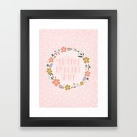 You Make My Heart Smile Framed Art Print