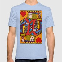 King of Hearts Mens Fitted Tee Tri-Blue SMALL