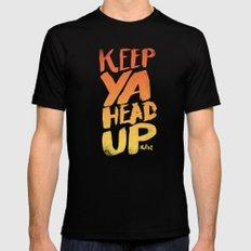 KEEP YA HEAD UP SMALL Mens Fitted Tee Black