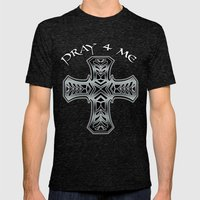 PRAY 4 ME Mens Fitted Tee Tri-Black SMALL