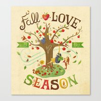 Fall in Love with the Season Canvas Print