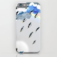 Rain Rainbow Clouds Peng… iPhone 6 Slim Case