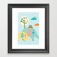 Jungle Ellies Framed Art Print