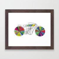 Rainbow Cycle Framed Art Print