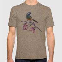 bluebird on magnolia Mens Fitted Tee Tri-Coffee SMALL