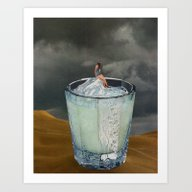 Art Print featuring DRINK by Beth Hoeckel Collage…