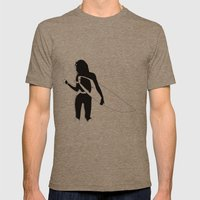 Surf Chick Mens Fitted Tee Tri-Coffee SMALL
