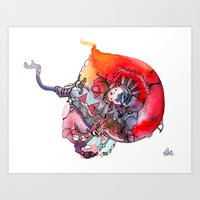 Stain-01 Art Print