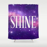 Shine Galaxy  Shower Curtain