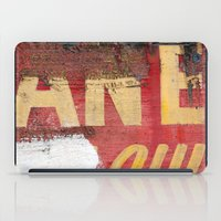 Yellow Letters On Red iPad Case
