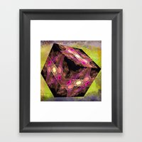 Abstract 136 Cube With T… Framed Art Print
