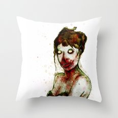 BRAAAINS BEFORE BEAUTY Throw Pillow