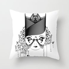 Maskjesty Throw Pillow