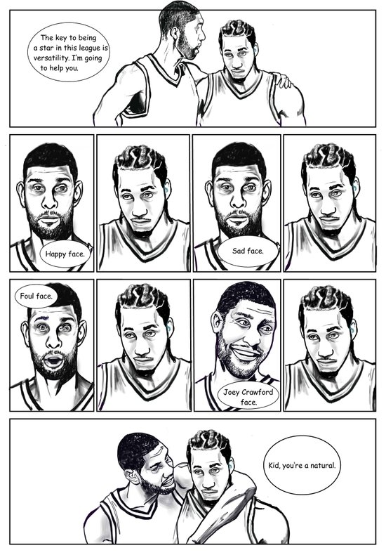 Training camp lessons with Tim Duncan Art Print