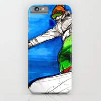 iPhone & iPod Case featuring Snowboarder girl by Jessica Tobin