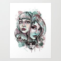 Faces and Color Art Print