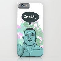 iPhone & iPod Case featuring SMASH! Hulk by Geo Law