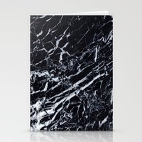 Real Marble Black Stationery Cards