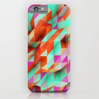 iPhone Cases featuring Polygons Sphere Abstract by Msimioni