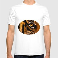 HIS ROYAL STRIPEYNESS Mens Fitted Tee White SMALL