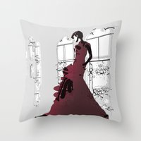 Gown Throw Pillow