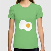 #2 Egg Womens Fitted Tee Grass SMALL