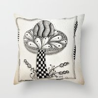 Zentangle 1 Throw Pillow