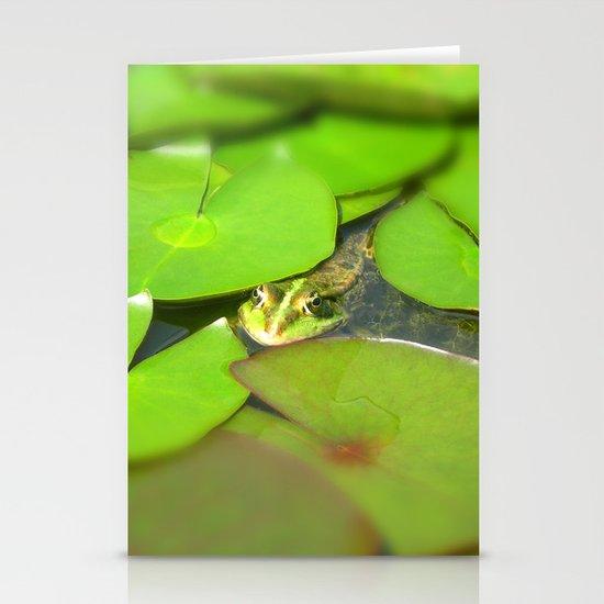 green frog I Stationery Card