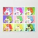 Unicorn Pop Art Canvas Print