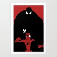 Spiderman (Ultimate) vs Venom Art Print