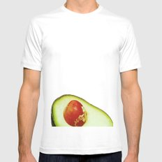 Avocado White Mens Fitted Tee SMALL