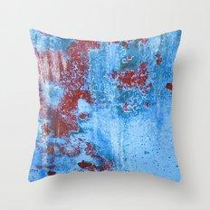Blue/Red Throw Pillow