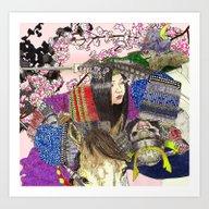 Art Print featuring Tomoe Gozen by Vin Ganapathy