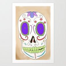 Candied Skull Art Print