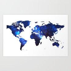 Space Milkyway World Map… Art Print