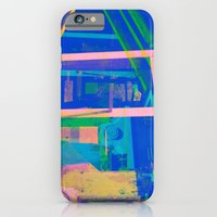 iPhone & iPod Case featuring Industrial Abstract Blue 2 by Arturo Peniche