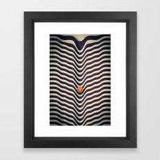 Dot V (melt) Framed Art Print