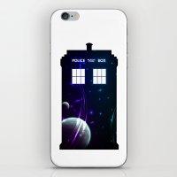 Space In TARDIS iPhone & iPod Skin