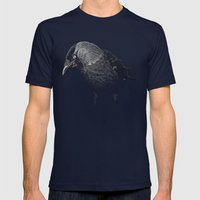 crow Mens Fitted Tee Navy SMALL