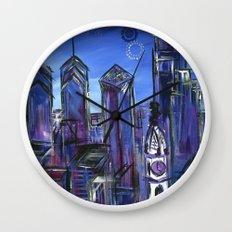 Starry Philadelphia Wall Clock